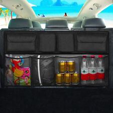 Black Multifunction Mesh Pocket Hanging Boot Car Seat Tidy Storage Organiser UK