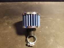 Rc Metal Nitro Air Filter Washable (Blue & Chrome) Fits Savage Traxxas & Others