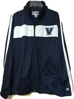 Russell Team Issue Mens Blue Villanova University Warm Up Track Jacket Size 2XL