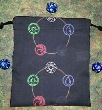Magic The Gathering Mana dice bag, cards bag, makeup bag