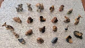 Small Animal Ceramic Ornaments - 23 Figures Job Lot