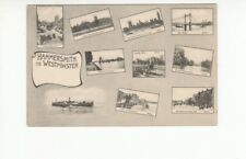 Postcard. Hammersmith to Westminster. Bridges. 1914