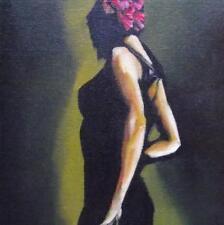 Flamenco Dancer 1: giornaliera IMPRESSIONISTA ORIGINALE Pittura ad Olio da Terry Wylde