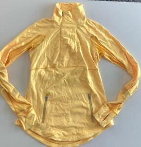 Lululemon Run: Reflect Pullover Sz 6 in Burning yellow