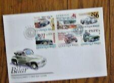 Sweden Popular Cars 1998 6 Stamp Set Fdc Chevy Bel-Air Porsche 356 Jaguar E Type