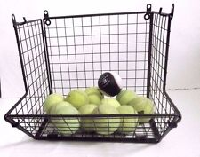 """Wrought Iron Collapsible Small wall /shelf Basket Rack 12"""" L X 7.5""""W X 10.5H"""""""