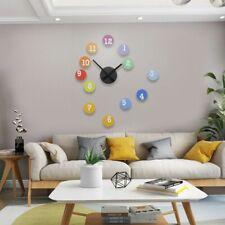 Modern 3d Silent Wall Clock Sticker Large Decorative Living Room Home Decoration