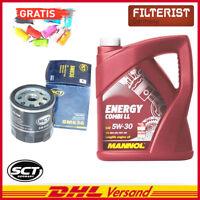 SCT Germany Ölfilter SM836, Mannol Öl Energy 5 L, Autoladegerät geschenkt