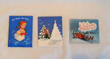 3 Mid Century Styrofoam Christmas Greeting Cards Unused W/Env. 3D Innovation