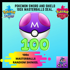 Pokemon Sword and Shield | Bulk of 100 Masterballs! (comes with shiny Pokemon!)