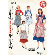 """La simplicité à coudre motif manque """"tablier vintage 1948 & 1952 Taille S M L 3544"""