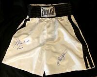 Muhammad Ali Aka Cassius Clay And Joe Frazier Mega Rare Dual Signed Trunks, O-A