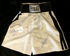 Muhammad Ali Aka Cassius Clay And Joe Frazier Mega Rare Dual Signed Trunks, O-A
