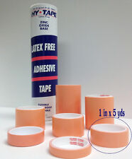 """Hy-Tape Pink Tape Medical Waterproof Surgical Tape 1"""" x 5 yd, Tube of 12 Rolls"""