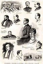 Processo all'anarchico Emile Henry. Testimoni, Giurati, Giudici, Avvocati. 1894