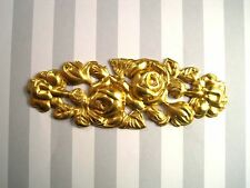 Large Raw Brass Floral Stamping (1) - Rat252 Brass Jewelry Finding