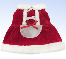 CHRISTMAS Pet Costume Red SANTA DRESS Halloween Pet Cat or Small Dog  - Large