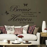 Removable Art PVC Vinyl Quote Wall Stickers Decal Mural Home Room Decor DIY