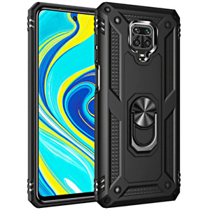 Cover For Xiaomi Redmi Note 9 Pro/9S Bumper Holder Ring + Tempered Glass 9H