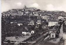CARTOLINA ABRUZZO PESCARA- PENNE, PANORAMA E STAZIONE FERROVIARIA - V1950