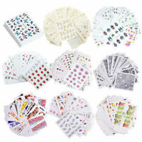 Nail Water Decals Rose Flower Geometry Nail Art Transfer Stickers Decoration Set