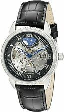 Stuhrling Original Men's 835.01 Special Reserve Automatic Black Leather Watch