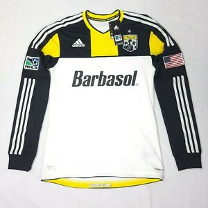 NWT Adidas Columbus Crew Soccer Jersey Long Sleeve MLS Barbasol Sz S, M RARE