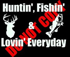 Whitetail Deer Huntin' Fishin' car truck window decal graphic sticker