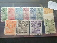 Basutoland 1938 Complete set of 11, hinged mint
