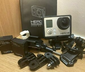 GoPro HERO3 Black Edition 4K 12MP Action Camera/Camcorder - With 2 batteries