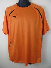 Puma Football Shirt Soccer Jersey Orange Maglia Maillot Camiseta Trikot L Large