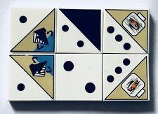 LEGO  6 x Printed Tile 3068 2 x 2 - Ramses Pyramid dice tiles