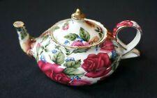 Vintage Season Collection Rose decor Small Teapot