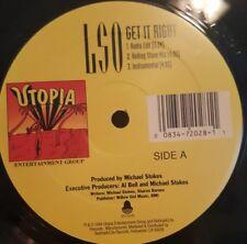 "LSO - Get It Right 12"" Vinyl Record Utopia Records"