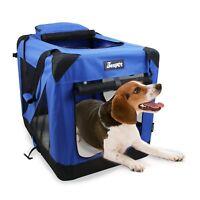 Jespet Soft Dog Crates Kennel for Pets, 3- Door Indoor/Outdoor Portable Crate