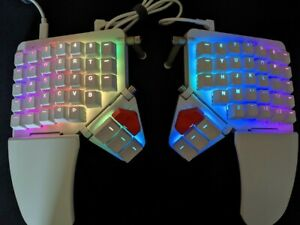 ZSA Moonlander Mark 1 - White - Kailh Silver Switches - Split Ergonomic Keyboard