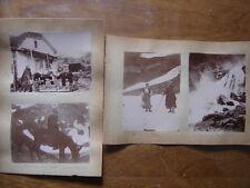 4 Photos anciennes debut XXe montee PIC MIDI ane Lac Oncet cascade Pont Espagne