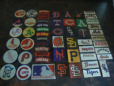 1968-1972 Fleer Baseball--Cloth Stickers--Lot Of 55--No Dupes--No Paper Backing