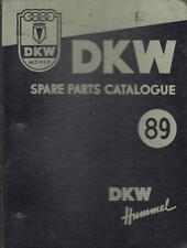 DKW HUMMEL MOPED ( STANDARD & DE LUXE ) ORIGINAL 1957 SPARE PARTS CATALOGUE