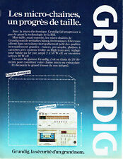 Publicité Advertising 107 1980  Grundig  les micro chaines hi-fi