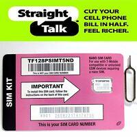 Straight Talk T-Mobile Nano SIM CARD for GSM Unlocked Phones