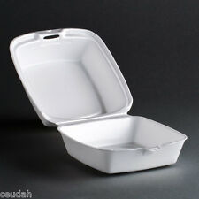 """(75) 5"""" Sandwich Container White Foam Hinged Lid Food Tray Dart Take Out Party"""