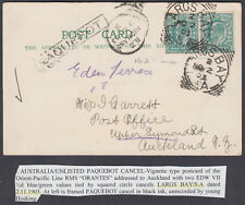 1903 GB Used Abroad;RMS ORONTES PPC;Largs Bay No.2;Paquebot:Auckland,New Zealand