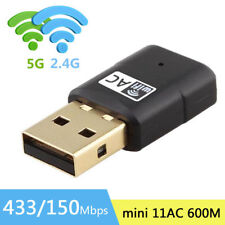 AC 600Mbps WLAN Adapter Stick dual band 2.4GHz / 5GHz WIFI Dongle USB Wireless