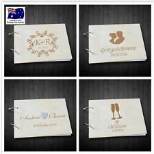 Personalised Customised Wooden Style Wedding Guest Signing Book