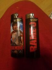(2) RAMBO FULL SIZE BIC DISPOSABLE LIGHTERS
