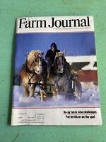 Vintage February 1986 Farm Journal American Agriculture News Magazine Farming