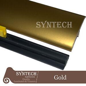 Gold Laminate Transition Threshold Strip 50mm x 90cm Multi-Height/Pivot British