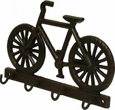 Metal Key Rack 4 Hook Push Bike Design Antique Rustic Finish Key Holder/Rack