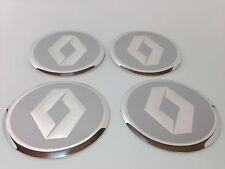 NEW 4pcs Decal Alu Stickers for Wheel Centre Cap Hubs for RENAULT - 60mm